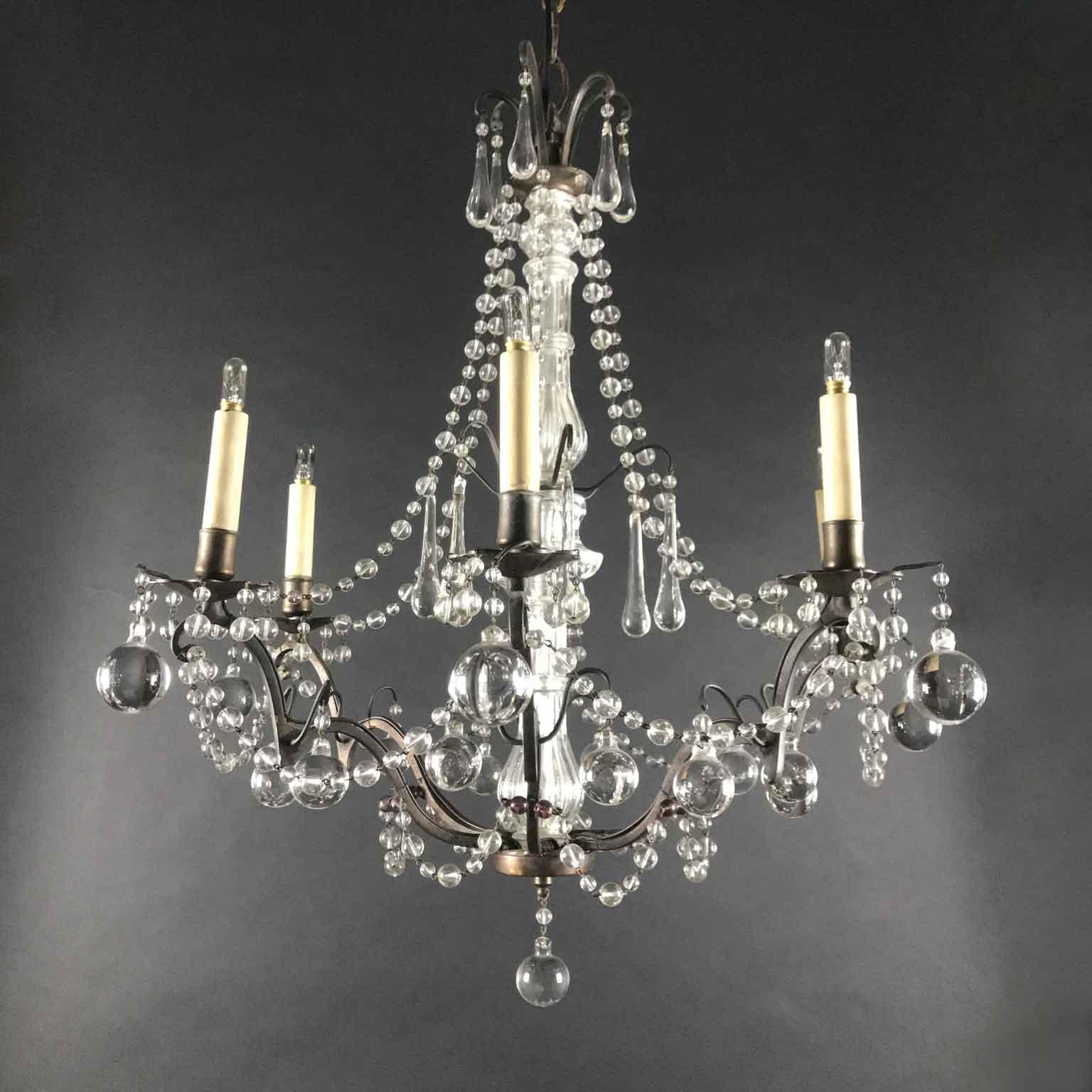 lampadario anni '60 in vetro di murano, vintage chandelier, 60s, murano glass. Lampadario Antico In Cristallo Vendita Online Ghilli Antichita Milano