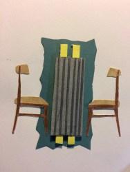 Collage préparatoire, Conversation 2, 30 x 24 cm