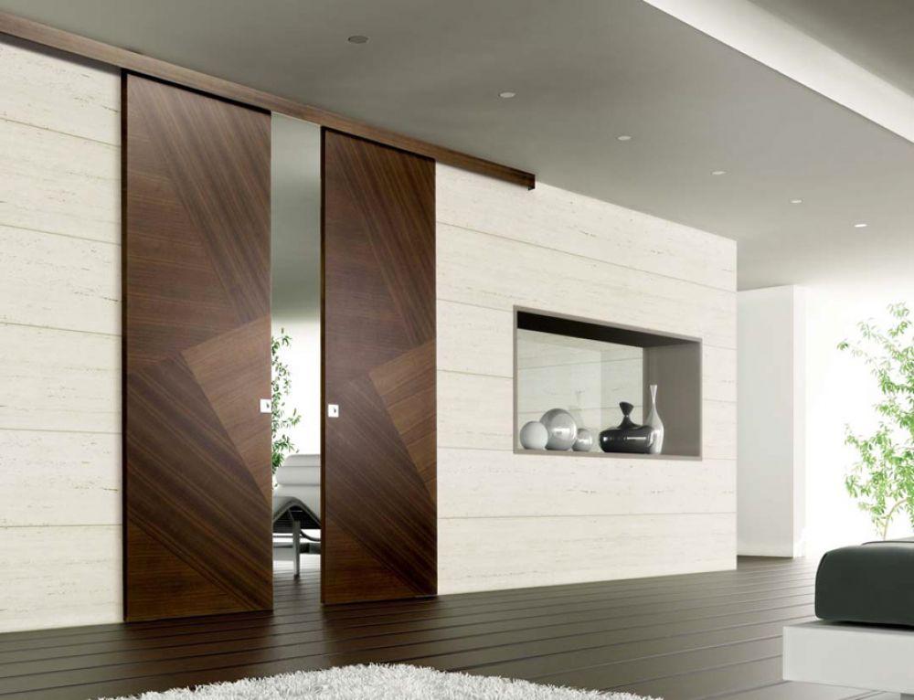 Porta scorrevole in legno  Porta con sistema scorrevole a