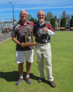 2016 BSI South Island Pairs winners David Gardner and Svend Klausen
