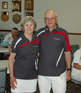 2015 Hutchings Pairs 1 game winners Annie Bodley-Scott and Robin Hittos
