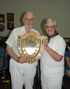 2016 Hutchings Pairs winners Jim McClennan and Sandra McConnell