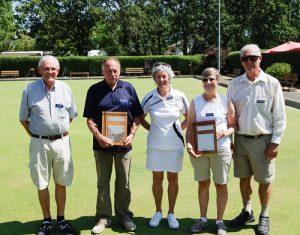 2016 Novice Tournament Finalists Jack Krahn, Mike Connorton, Nancy Stuart and Gordon Stuart.