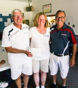 2016 President's Shield 2- game winners David Gardner, Dorothy Verge and Brian Morin.