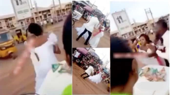 Bride leaves her groom in shock a few minutes after saying 'I do'