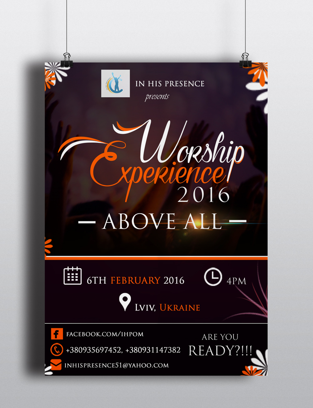 IN HIS PRESENCE WORSHIP EXPERIENCE FLYER DESIGN GHM The Best Graphics And Website Design