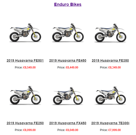 2019 Husqvarna Bikes are in stock at GH Motorcycles and