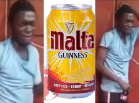 Thief given malt and forced to dance after he was caught stealing (Video)