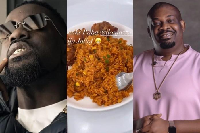 Sarkodie and Don Jazzy nigeria jollof