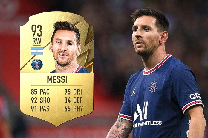 lionel messi psg fifa 22 rating best player