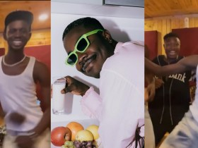 Black Sherif Displays Another Cr@zy Dance Moves Jamming To Darkovibes And Davido's New Song