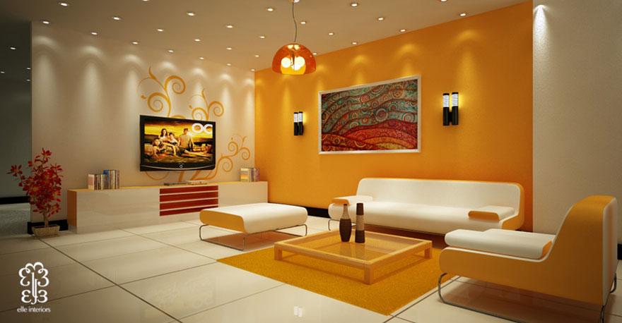 living room ceiling lights modern burnt orange walls beautiful yellow with light interior