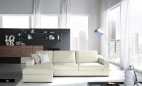 Cool Living Room White Sofa with Modern Lamps - Interior ...