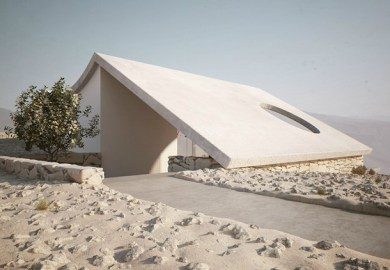Roof Design Isolated Desert Residence By Studio Aiko