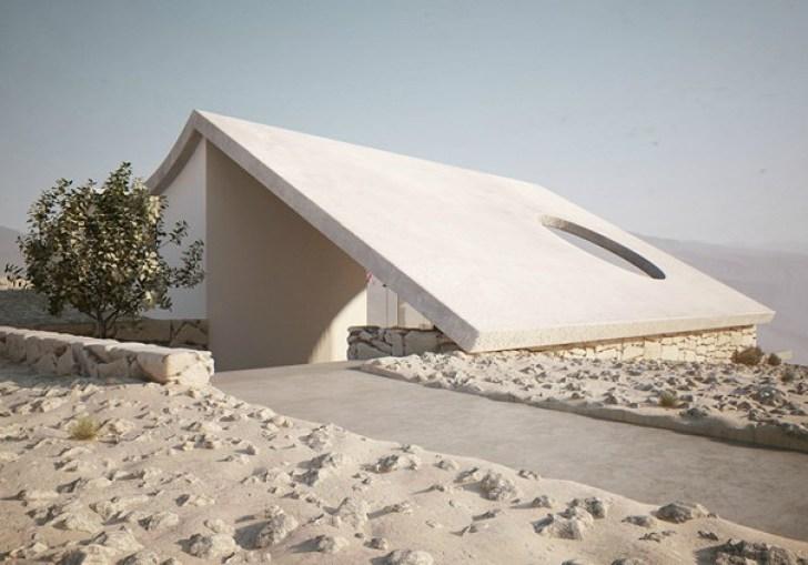 Roof Design Isolated Desert Residence By Studio Aiko