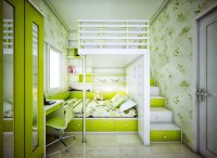 Catchy Kids Bedroom with Lime Green Color Ideas - Interior ...