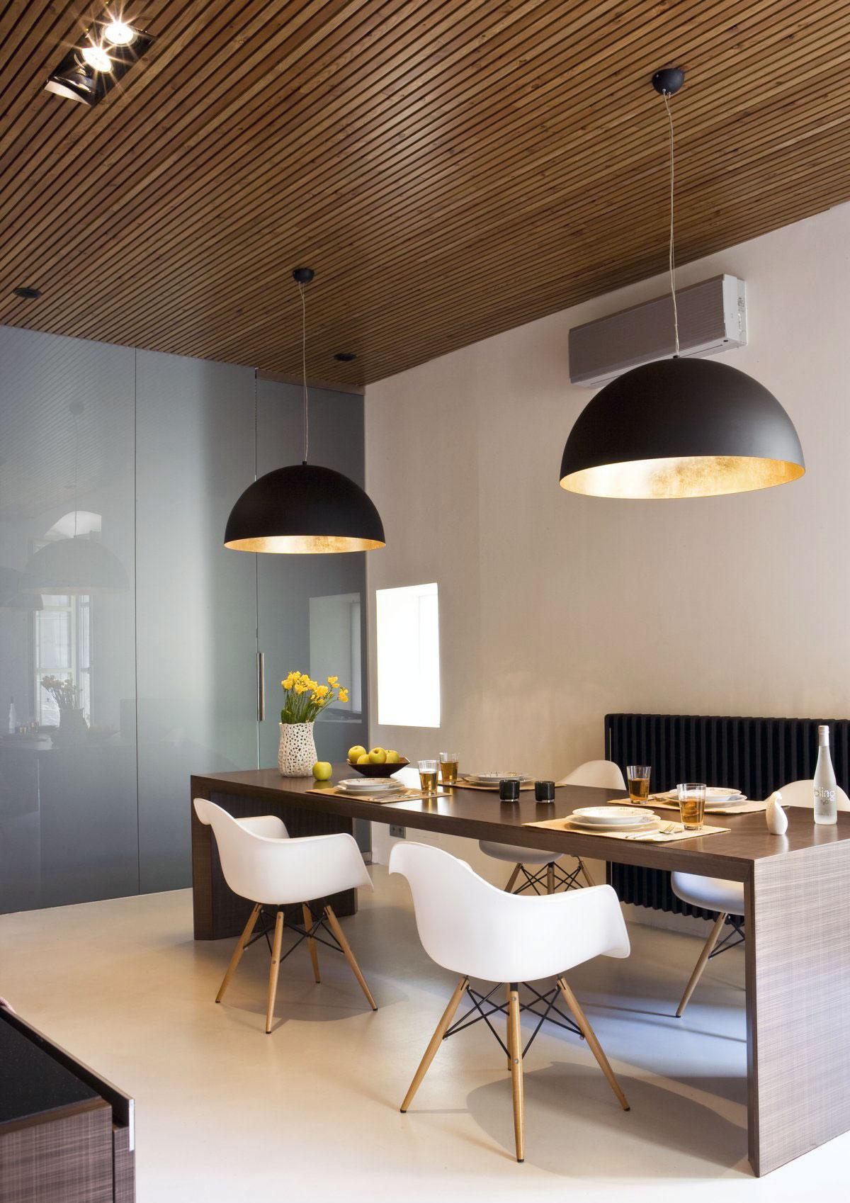 Dining Table in Bronze Metal Panel Design  Interior Design Ideas
