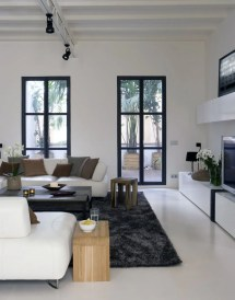 Black White Living Room Windows