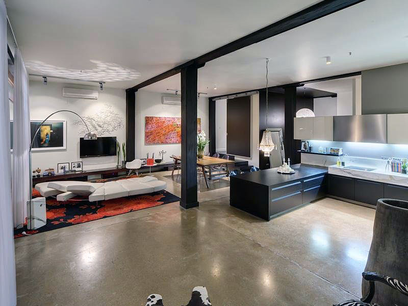 Modern Open Living Room Apartment Design  Interior Design Ideas