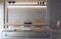 Original Exposed Brick Dining Room with Recessed Wall ...
