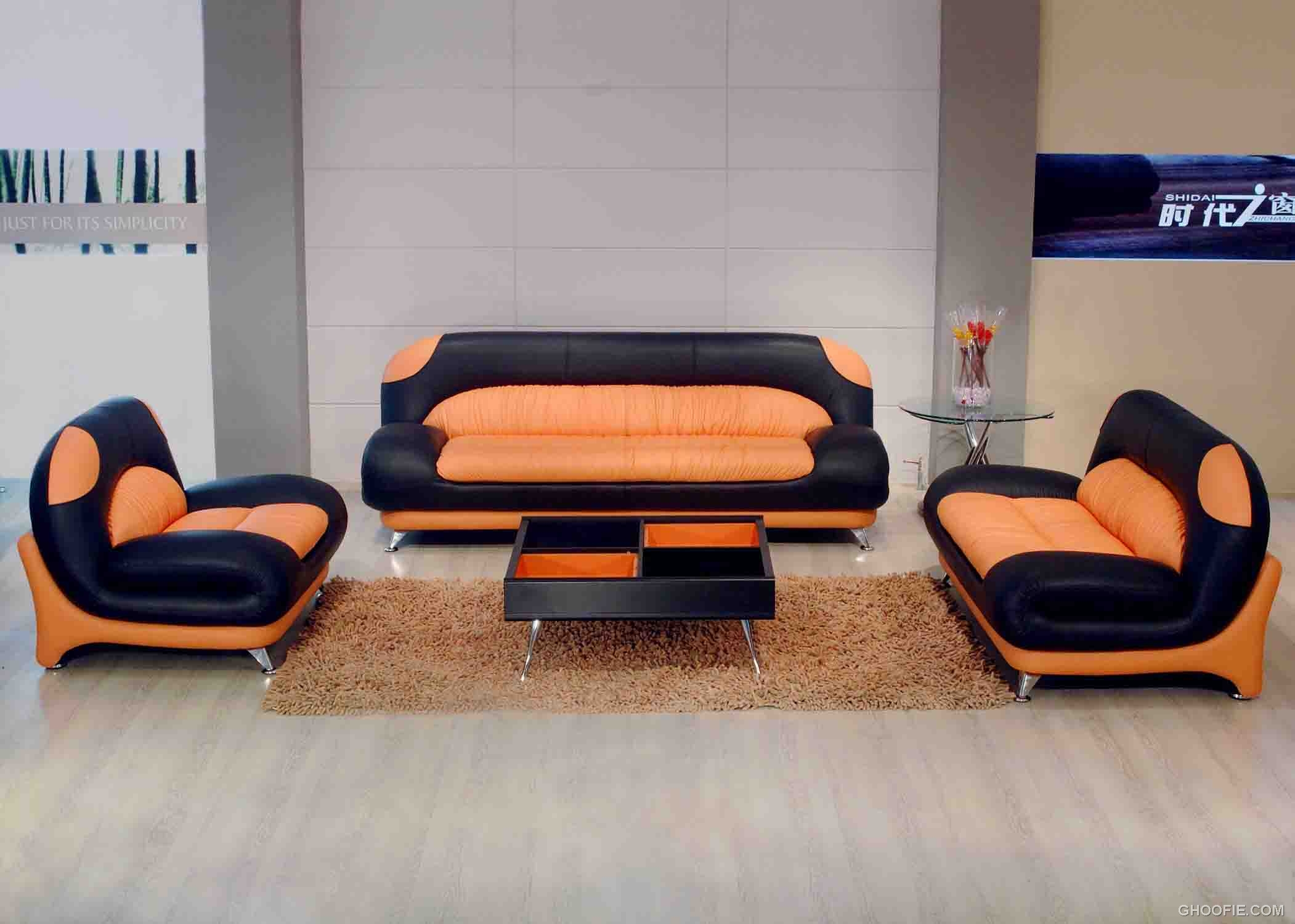 black and orange sofa painted table images classical leather sectional