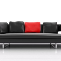 Black And Red Leather Sofa Furniture Cover For Sectional Beautiful Living Rooms