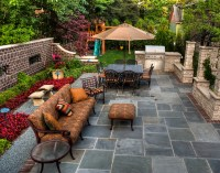 Awesome patio with grill and firepit - Interior Design Ideas
