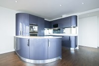 Modern futuristic purple kitchen - Interior Design Ideas
