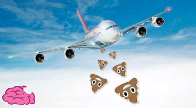 飛機上沖下去的大便和尿尿都跑到哪裡去了|冷知識