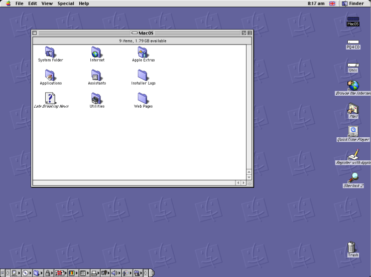 Classic Mac Emulation On macOS - Sheep Shaver Running OS 9.0.4