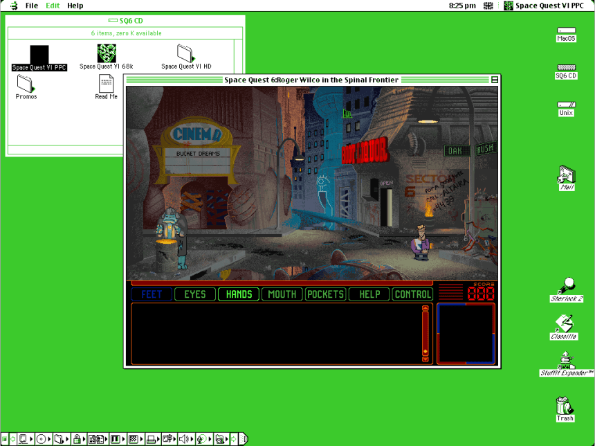 Classic Mac Emulation On macOS - Space Quest VI - OS 9 - Sheep Shaver