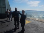 Phil and Karen during the ferry crossing from Port Townsend, WA to Whidbey Island.