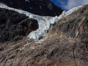Angel Glacier at Mt Edith Cavell in Jasper Park.