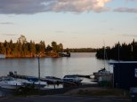 A view from my hotel in Kenora, ON. I had arrived just before sunset.
