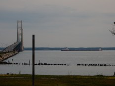 The Arthur M Anderson downbound just east of the Mackinac Bridge.