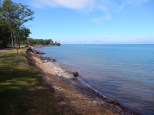 Lake Superior looking fairly cheerful on a sunny day.