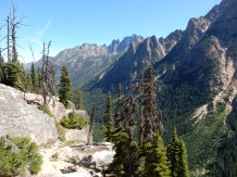 A view down the valley east of Washington Pass.