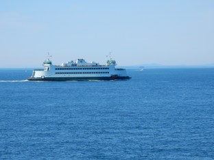 Passing the eastbound ferry between Port Townsend and Coupeville.