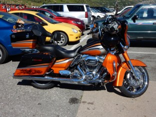 A nice SE 110 bagger in the parking lot of the Glacier NP visitor center. This would be pretty cool if it weren't for the stuffed animal.