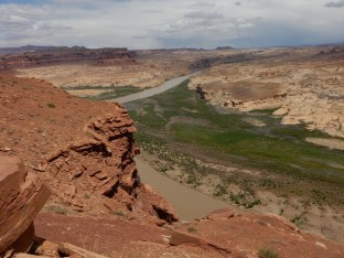 Looking north from the Hite Overlook at Glen Canyon.