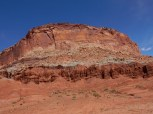 Colorful wall of rock in Capitol Reef NP.