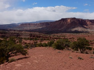 A view west from Panoramic Lookout in Capitol Reef, NP.