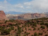 The Waterpocket Fold geological formation in Capitol Reef NP.