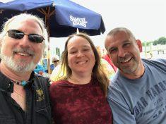 Ghost, Karen, and Yo Adrian at Stoney's on the Chesapeake Bay.