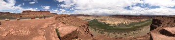 A panoramic view of Glen Canyon from the Hite Overlook.