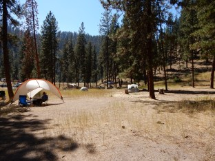 The Hot Springs campground in the Boise National Forest. The Hot Springs campground in the Boise National Forest.