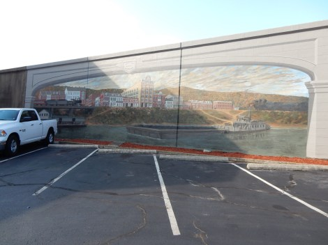 Maysville levee mural.