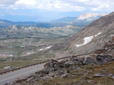 A view west from the top of Beartooth Pass.A view west from the top of Beartooth Pass.