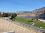Downstream of Grand Coulee Dam.