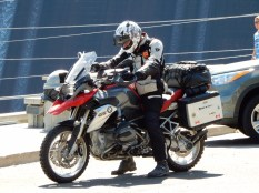 A fellow BMW rider that we spoke with at the Grand Coulee Dam.